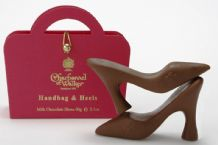 Charbonnel Pink Handbag & Heels Milk Chocolate Shoes 60g